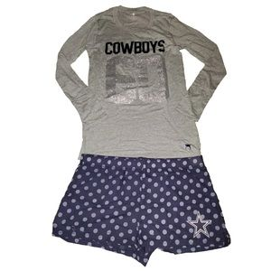 Victoria's Secret Pink Dallas Cowboys Set